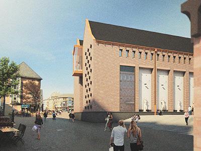 historisches museum frankfurt, Visualisierung: LRO Architekten