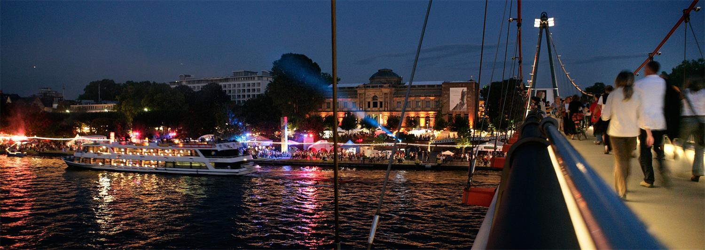 Museumsuferfest bei Nacht, © Tourismus+Congress GmbH