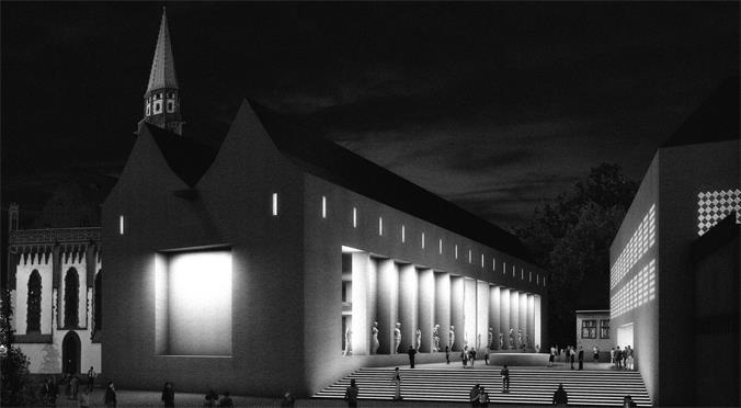 Animation Neubau Historisches Museum Frankfurt, © Architekturbüro Lederer Ragnarsdóttir Oei