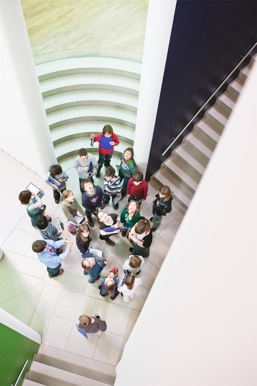 Kinderführung im MMK Museum für Moderne Kunst, Foto: Axel Schneider