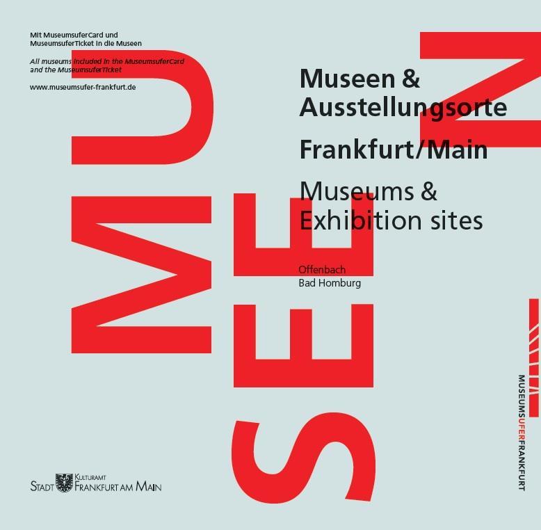 """Museumsuferbroschüre """"Museen & Ausstellungsorte"""", Kulturamt Frankfurt am Main"""