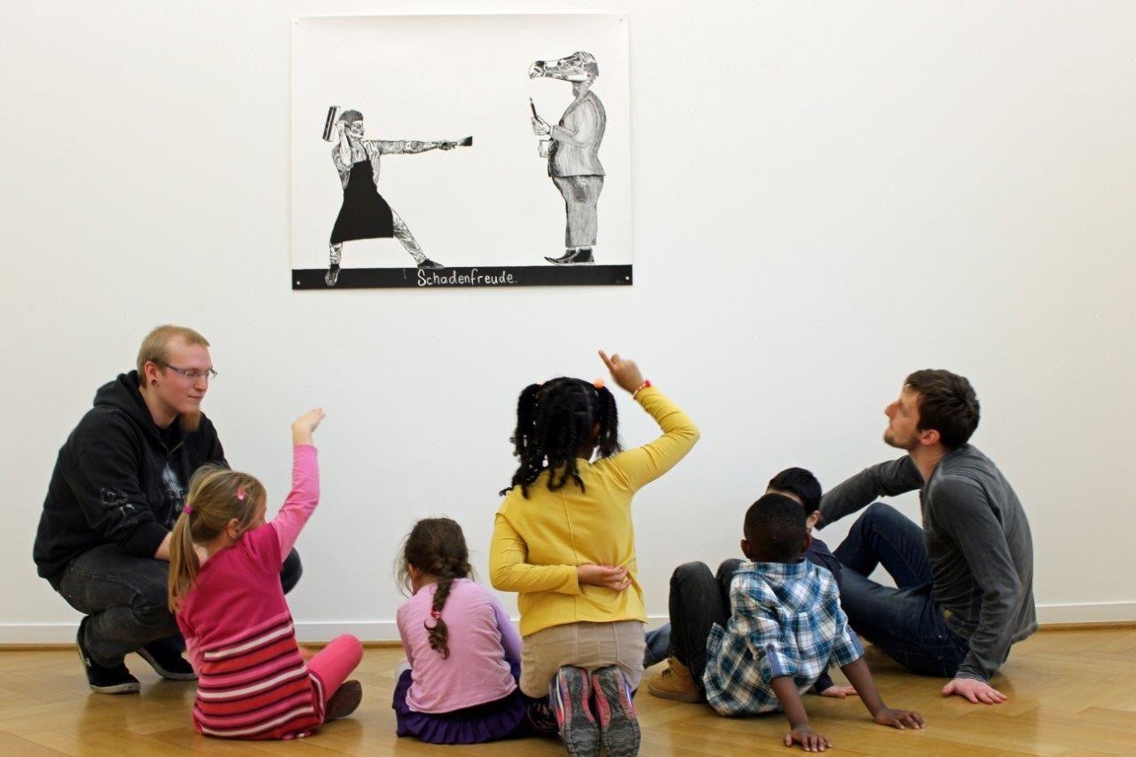 Kinderführung im Weltkulturen Museum © Stephanie Endter