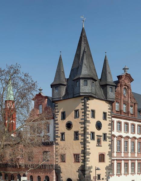 Der sanierte Rententurm des historischen museums frankfurt 2012 © hmf, Foto: J. Baumann